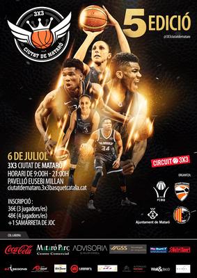 5a edició del 3 X 3 de bàsquet Ciutat de Mataró
