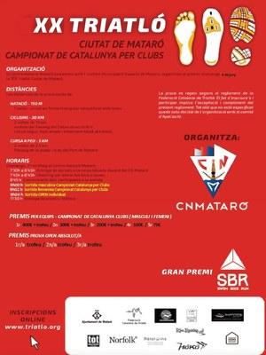 XX Triatló Ciutat de Mataró, Campionat de Catalunya p...