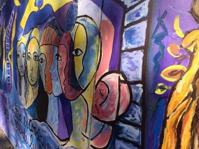 """Concentració 8M. Trobada davant el mural """"Insubmises"""""""