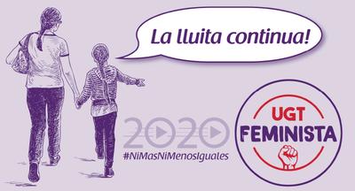 Estand informatiu: La UGT, el sindicat feminista. Parle...