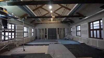 Fase de les obres del Cafè Nou. Any 2019. Autor: Ajuntament de Mataró