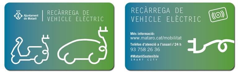 Targeta vehicles elèctrics