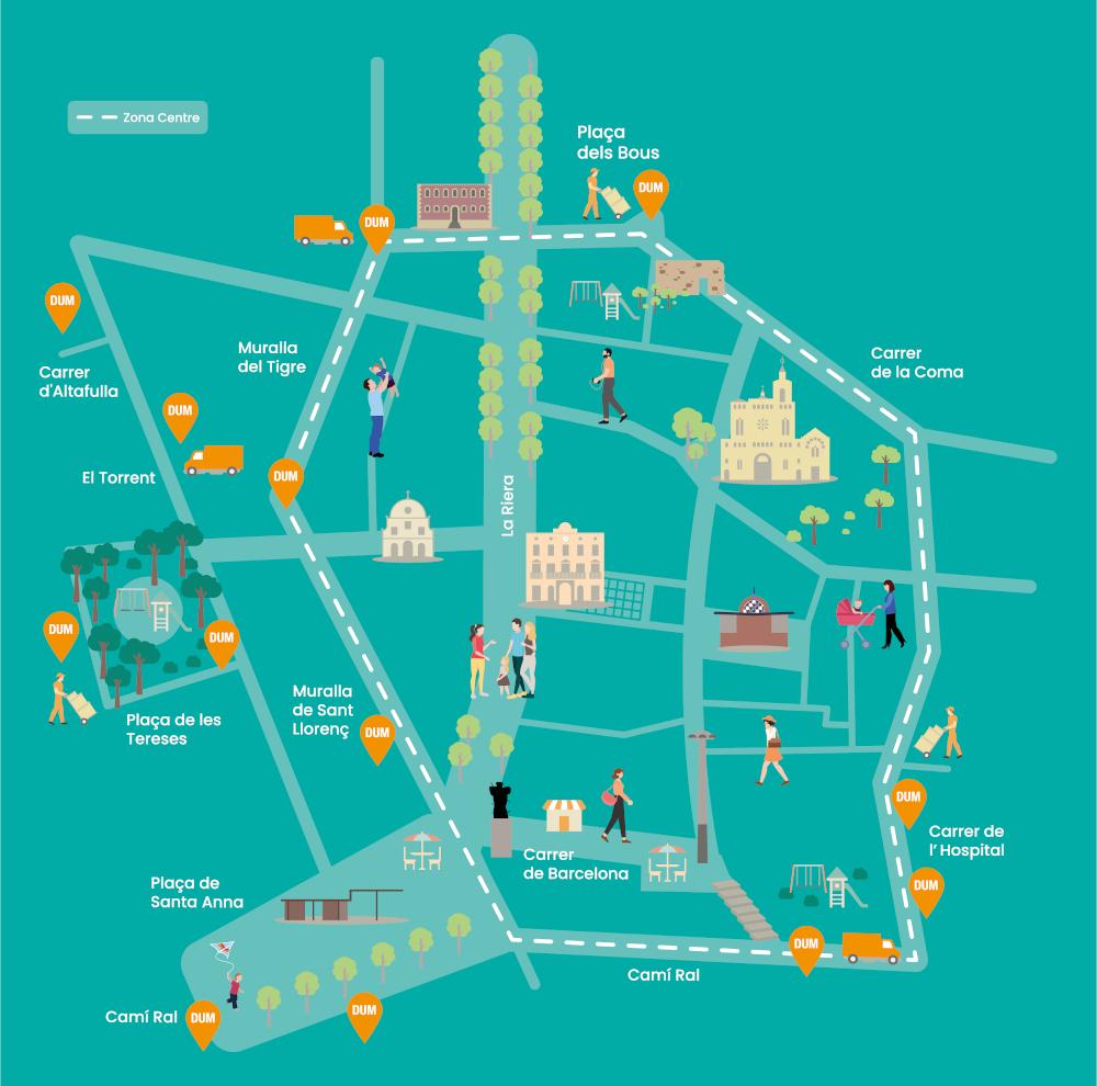 Mapa Fem Centre